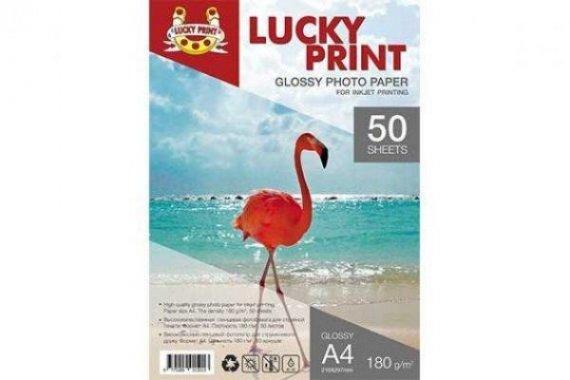 Глянцевая фотобумага Lucky Print (A4, 180г/м2), 50 листов для Epson L120