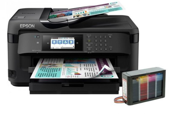 изображение МФУ Epson WorkForce WF-7710DWF с СНПЧ Hightech