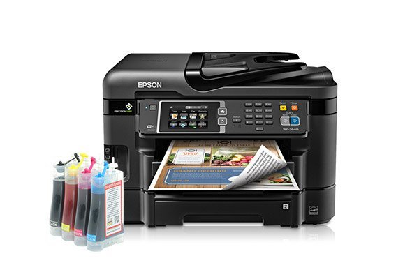 изображение МФУ Epson Workforce WF-3640DTWF с СНПЧ Standart