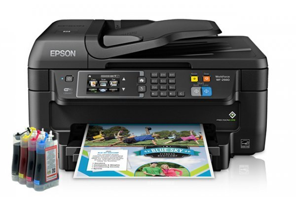 изображение МФУ Epson Workforce WF-2660 Refurbished с СНПЧ